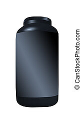 Black Cream container isolated over the white background