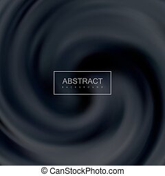 Black Creamy Swirling Background. Vector Illustration....
