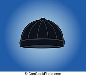 Black Criminal Cap Vector