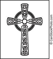 Black cross - vector illustration