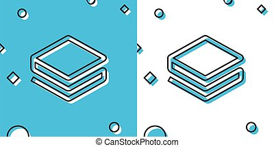 Black Cryptocurrency coin Stratis STRAT icon isolated on blue and white background. Physical bit coin. Digital currency. Altcoin symbol. Blockchain based secure crypto currency. Vector Illustration
