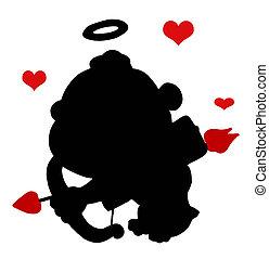 Black Cupid Silhouette