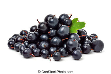 Black currants isolated. - Black currants isolated on the...