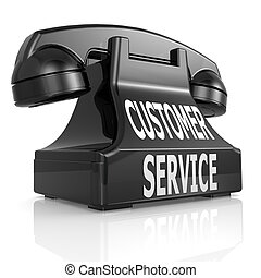 Black customer service phone