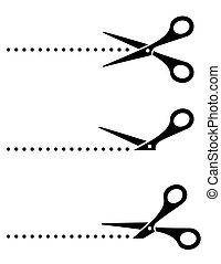 black cutting scissors