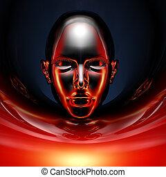 black cyber girl portrait