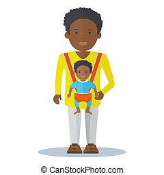 black dad and baby boy