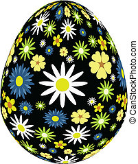 black daisy egg