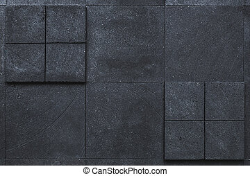 Black dark stone tile wall background