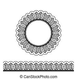 Black decorative border and circle frame