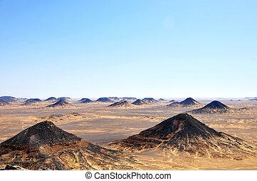 Black desert in Egypt
