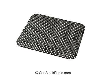 Black desktop non slip matt isolated on white background
