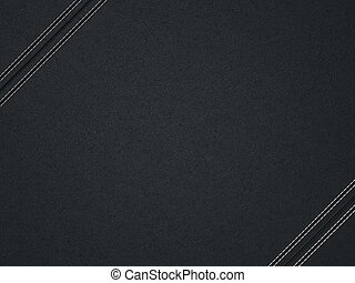 Black diagonal stitched leather background. Useful as...