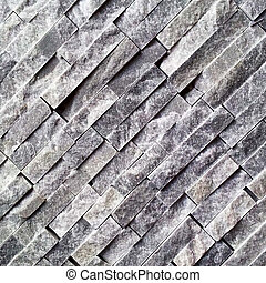 Black diagonal stone wall
