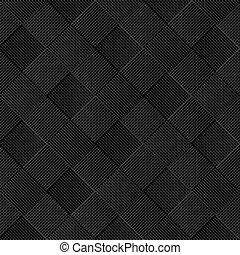 Black diagonal wicker pattern