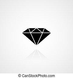 Black diamond icon. Vector