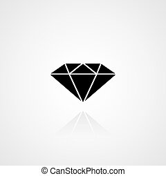 Black diamond icon. Vector