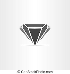 black diamond stylized icon logo design