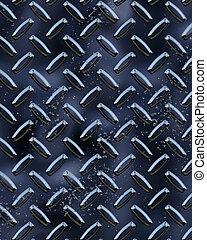 Black Diamondplate - Metal Diamond plate