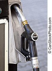Black diesel pump nozzle