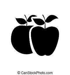 black differents apples icon
