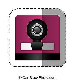 black digital webcam technology computer