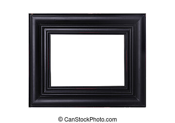 Black Distressed Frame - a isolated black distressed frame...