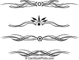 black dividing line with curls