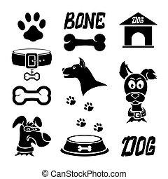 Black dog icons