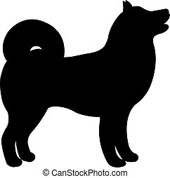 Black Dog Silhouette