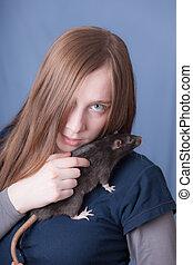 black domestic rat