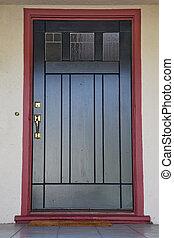 Black door burgundy trim