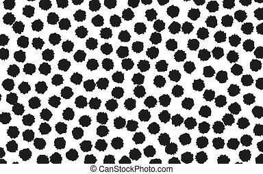 Black dots. Abstract geometric background