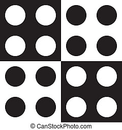 Black dots and white dots background