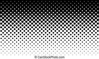 Black Dots Halftone Pattern. - Black dots pattern on white....