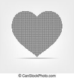 Black dotted heart.