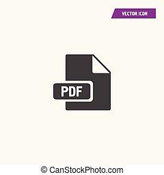 Black download pdf file button icon.