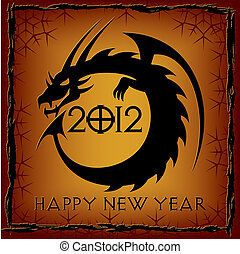 Black Dragon. 2012 New Year Card