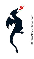 Black Dragon Silhouette