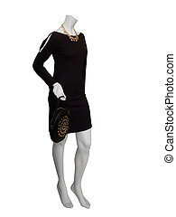 Black dress mannequin