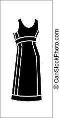 Black dress vector illustration