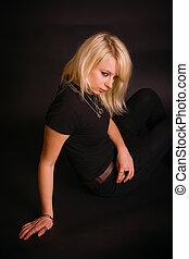Black Dressed Blonde