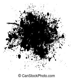 black and white abstract grunge ink splat background