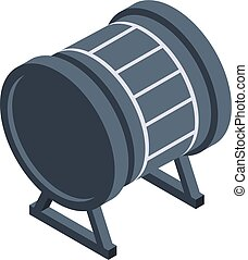 Black drums icon. Isometric of Black drums vector icon for web design isolated on white background