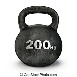 dumbbell - black dumbbell weight isolated on a white