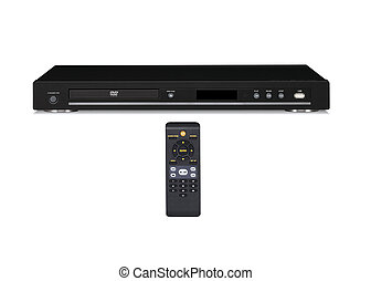 black dvd player isolated