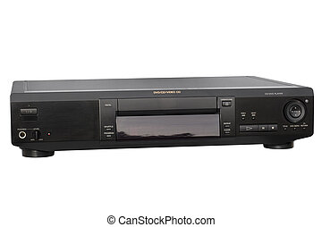 Black DVD Player - Front view of DVD Player; isolated,...
