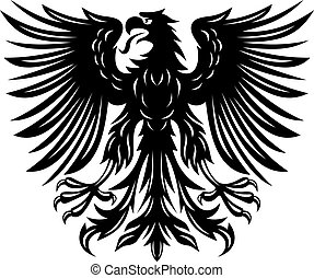 Black eagle - Power black eagle for heraldry or tattoo...