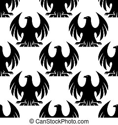 Black eagle seamless pattern