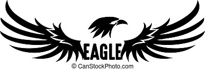 Black Eagle Vector - Black Eagle Logo, Abstract Eagle,...